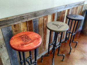 Crafted's stools feature craft brand beers, spirits and wines. Courtesy Crafted.