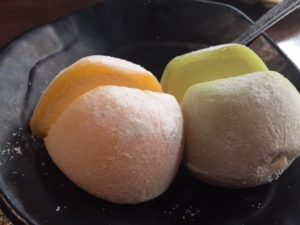 Mochi Ice at Kula Revolving Sushi Bar in Plano, Texas. (DFW Mag)