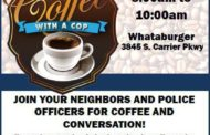 Grand Prairie PD Hosts Coffee With A Cop June 25th