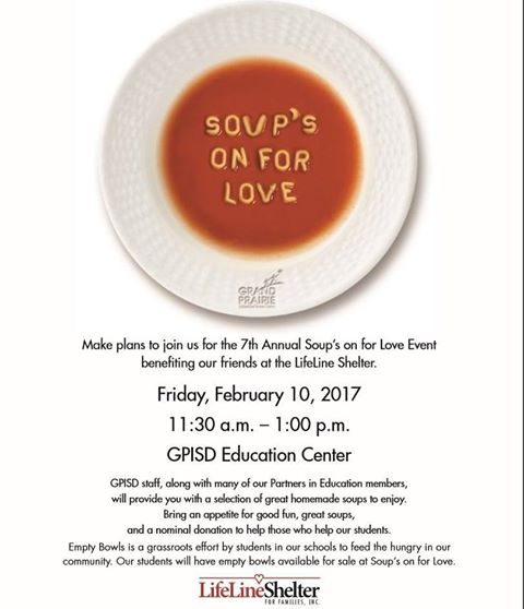 7th Annual Soups on for Love Benefiting LifeLine Shelter